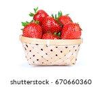 delicious ripe strawberry in... | Shutterstock . vector #670660360