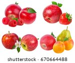 collection of fruits isolated... | Shutterstock . vector #670664488