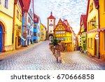 Rothenburg Ob Der Tauber Picturesque - Fine Art prints