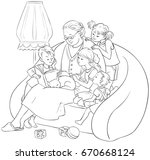 Coloring Page Of Grandchildren...