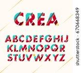 typographic alphabet collection ... | Shutterstock .eps vector #670668349