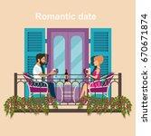 facade of the vintage house...   Shutterstock .eps vector #670671874