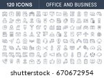set of line icons in flat... | Shutterstock . vector #670672954