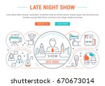 flat line illustration of late... | Shutterstock . vector #670673014