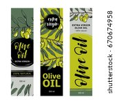 olive oil labels collection.... | Shutterstock .eps vector #670674958
