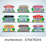 retail business urban shop ... | Shutterstock .eps vector #670678243