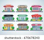 retail business urban shop ... | Shutterstock .eps vector #670678243