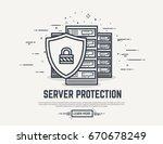 server or computer security... | Shutterstock .eps vector #670678249