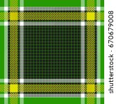 fabric plaid pattern vector... | Shutterstock .eps vector #670679008