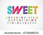 vector of stylized colorful... | Shutterstock .eps vector #670688053