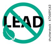 lead free vector icon | Shutterstock .eps vector #670689163