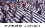 blur photography of pedestrian... | Shutterstock . vector #670695646