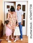 family with children indoor... | Shutterstock . vector #670697758