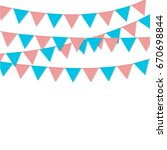 bunting flag decoration  pink... | Shutterstock .eps vector #670698844
