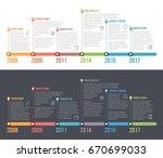 horizontal timeline... | Shutterstock .eps vector #670699033