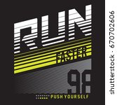 athletic run faster typography  ... | Shutterstock .eps vector #670702606