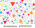 background abstract triangle... | Shutterstock .eps vector #670707373