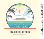flat style design of cruise... | Shutterstock .eps vector #670708630