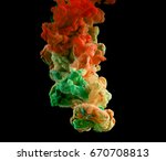 ink in water. ink swirling in...   Shutterstock . vector #670708813