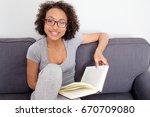 portrait of beautiful african...   Shutterstock . vector #670709080