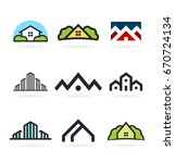 vector building  house icons... | Shutterstock .eps vector #670724134
