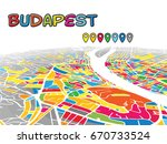 budapest  hungary  downtown 3d... | Shutterstock .eps vector #670733524