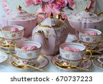Pretty Pink And Gold Vintage...