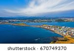 sea and city scenic point in...   Shutterstock . vector #670749370