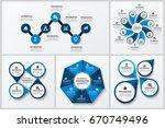 modern infographic pie charts...   Shutterstock .eps vector #670749496