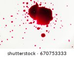 splatters of fresh human bright ... | Shutterstock . vector #670753333