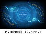 abstract technology background... | Shutterstock .eps vector #670754434