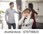 little girl was crying because... | Shutterstock . vector #670758823