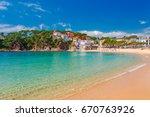 sea landscape llafranc near... | Shutterstock . vector #670763926