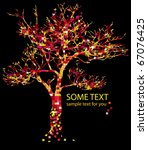 concept with red tree and text   Shutterstock .eps vector #67076425