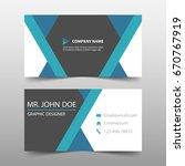 blue corporate business card ... | Shutterstock .eps vector #670767919