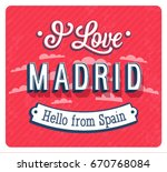 vintage greeting card from... | Shutterstock .eps vector #670768084