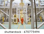 technician walking through... | Shutterstock . vector #670775494