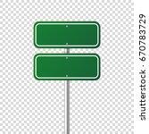 road traffic sign. blank board... | Shutterstock .eps vector #670783729