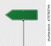 road traffic sign. blank board... | Shutterstock .eps vector #670783744