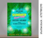 summer beach party design... | Shutterstock .eps vector #670788190