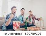 yes  winners  goal  cheerful... | Shutterstock . vector #670789108