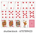playing cards  heart suit ... | Shutterstock .eps vector #670789423