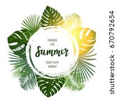 summer tropical vector design... | Shutterstock .eps vector #670792654