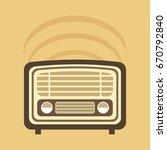 vintage radio design  vector... | Shutterstock .eps vector #670792840