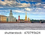saint petersburg and river neva ... | Shutterstock . vector #670795624