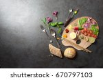 food palette background | Shutterstock . vector #670797103