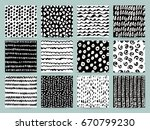 set of different abstract... | Shutterstock .eps vector #670799230