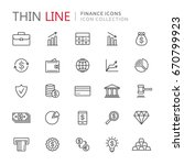 collection of finance thin line ... | Shutterstock .eps vector #670799923