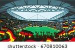 soccer stadium | Shutterstock .eps vector #670810063
