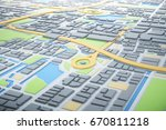 3d map of city with navigator... | Shutterstock . vector #670811218